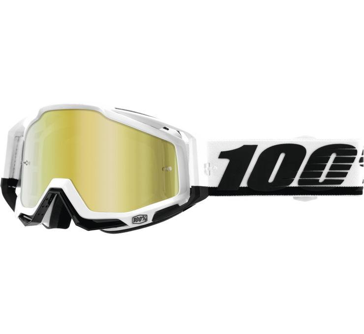Flo Yellow w//Anti-Fog 50103-026-02 100/% Snow Snowmobile RACECRAFT Goggles