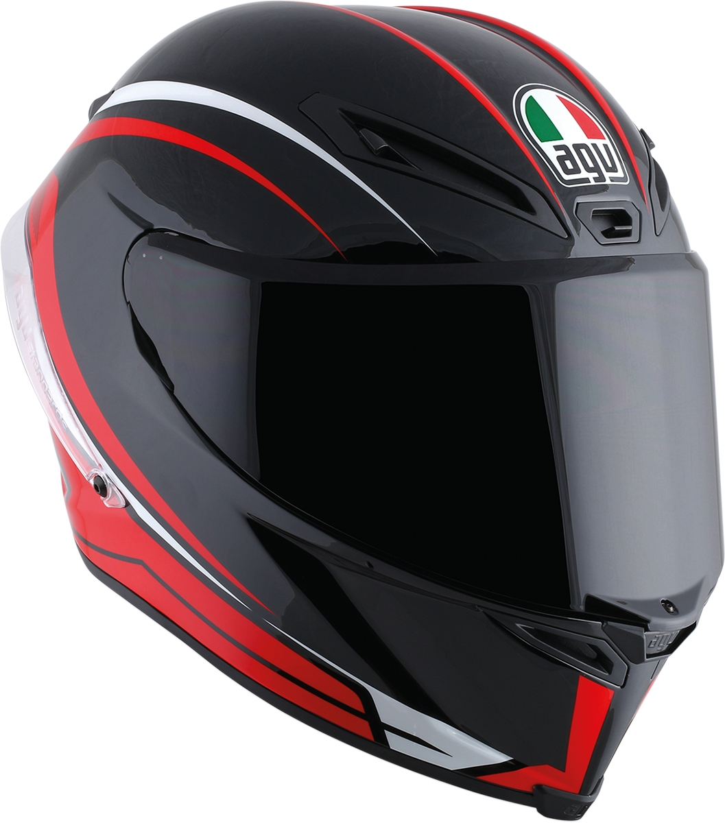 agv corsa r arrabbiata motorcycle helmet black red all sizes ebay. Black Bedroom Furniture Sets. Home Design Ideas