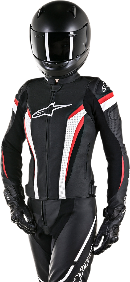 Details about Alpinestars Stella GP Plus R V2 Airflow Leather Jacket 46 BlackWhiteRed