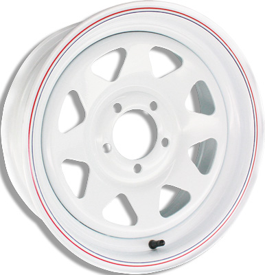 8-Spoke Steel Trailer Wheels