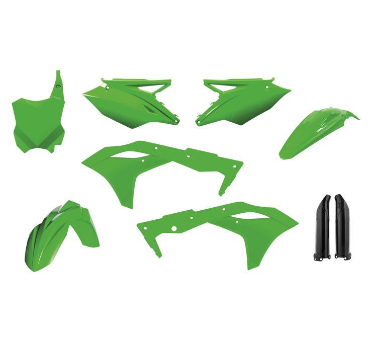 ACERBIS FULL PLASTIC KIT FLO GREEN 2630630235 MC Kawasaki