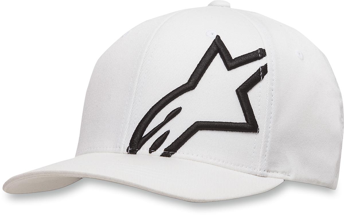 49e895ca Alpinestars Mens Corp Shift 2 Hat Flexfit Cap Lid Black White Small ...