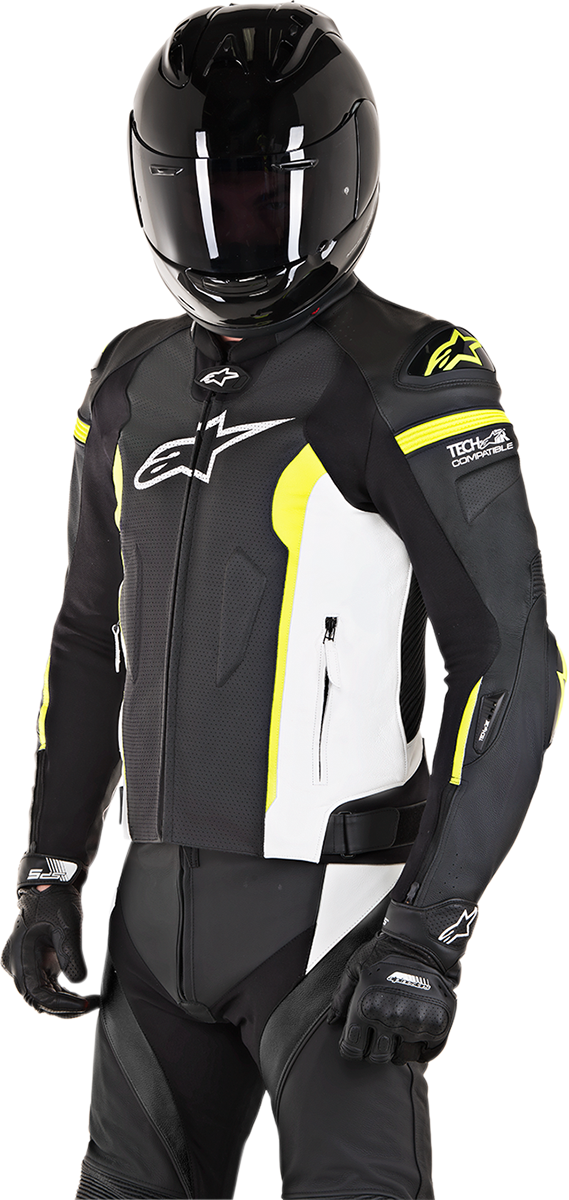 935d48ad6 Details about Alpinestars 3100118-1260-50 Missle Leather Jacket Tech-Air  Compatible 50