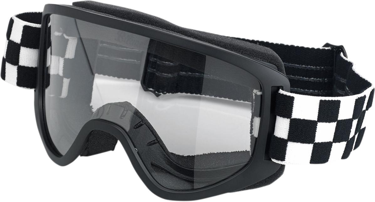 Biltwell Mens Motorcycle Moto 2.0 Goggles Lightning Bolt Black//White