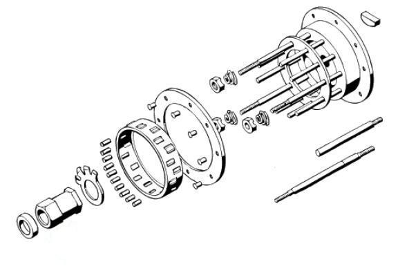 Harley Biker's Choice 70282H4 4-Speed Clutch Hub Hub Nut