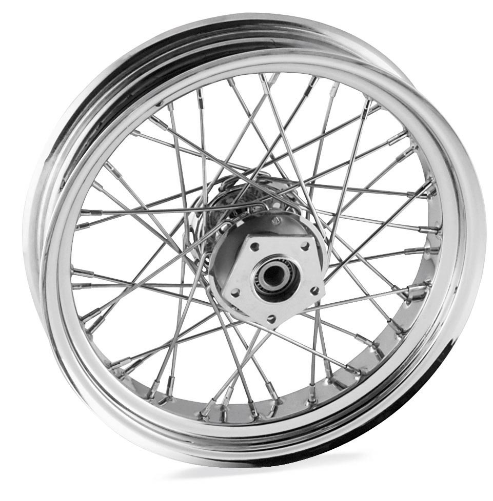 18 x 3.5in. Single Disc Front Wire Wheel