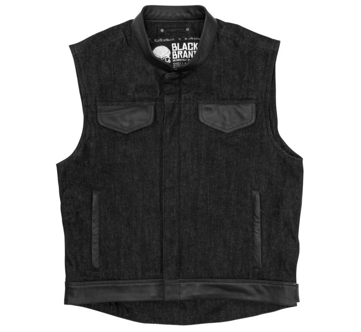 Men's Black Denim Vest