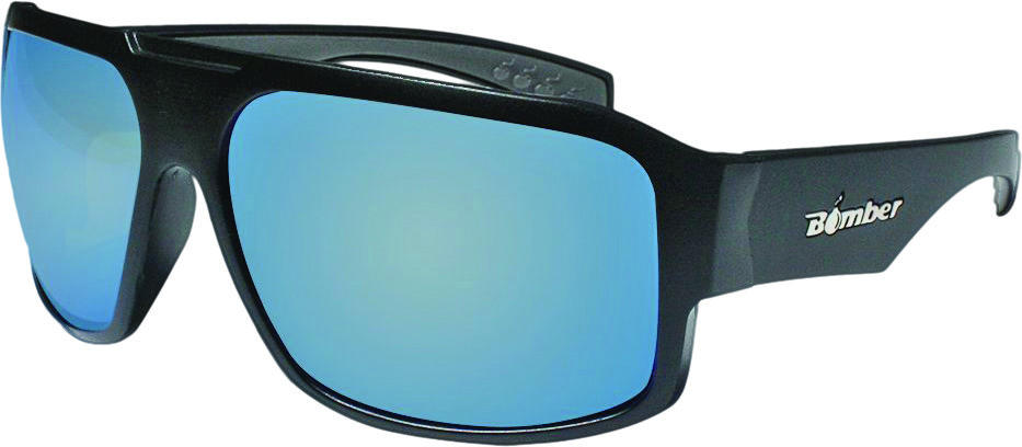 Bomber Mega Bomb Sunglasses Matte Black// Green Mirror Pc Safety Lens M103-GM-GF