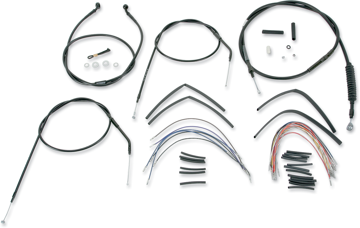 Burly B30-1001 Extended Cable/Brake Line Kit for Burly Ape