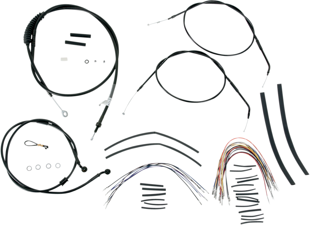 Burly B30-1004 Extended Cable/Brake Line Kit for Burly Ape