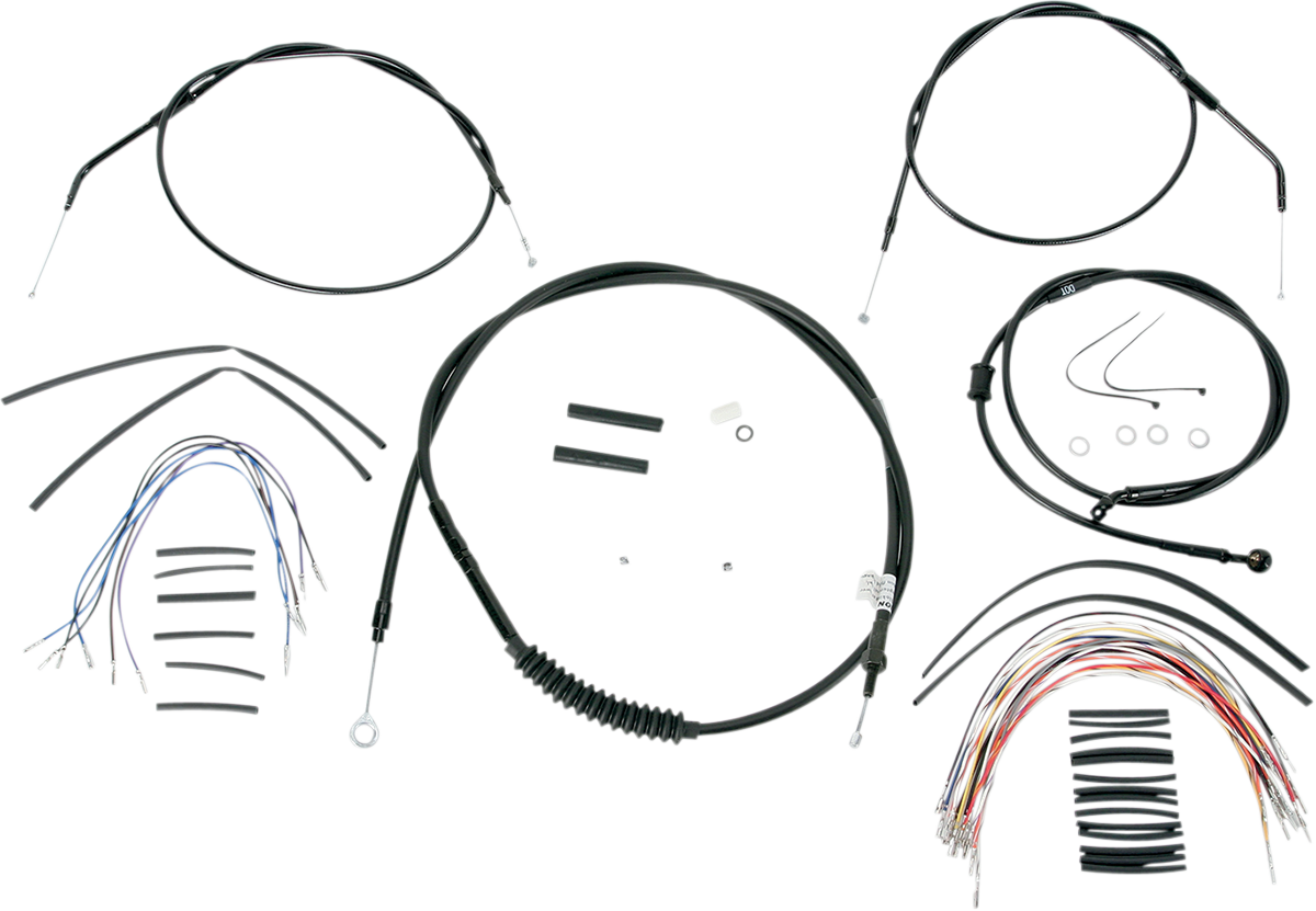 Burly B30-1008 Extended Cable/Brake Line Kit for Burly Ape