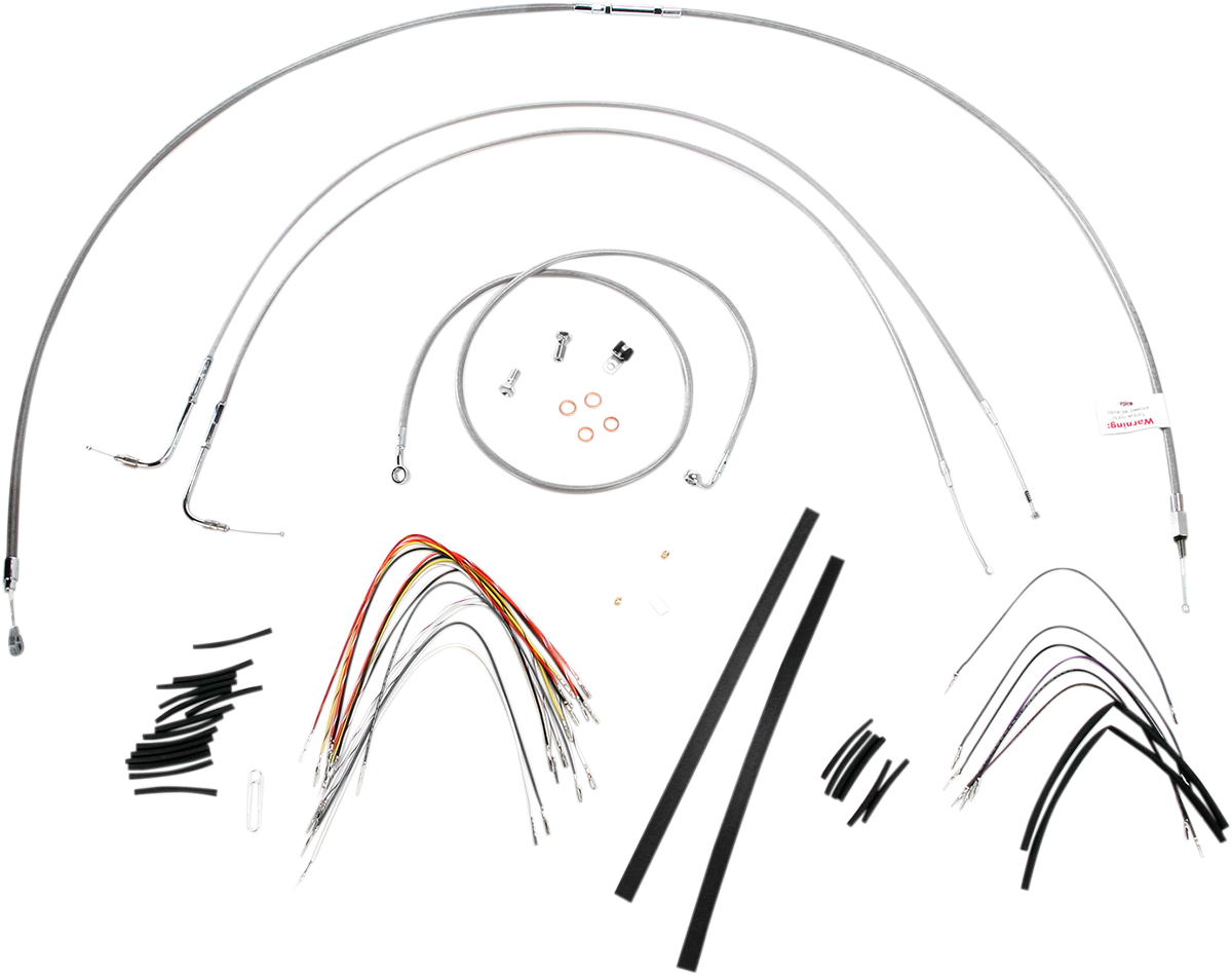 Burly B30-1054 Braided Stainless Steel Cable/Brake Line