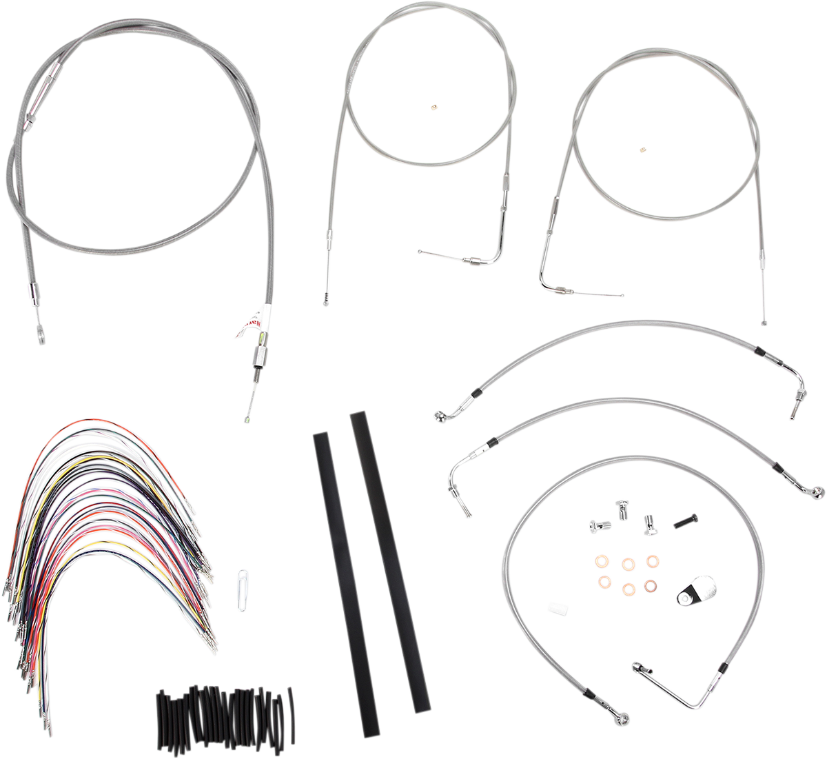 Burly Braided Stainless Steel Cable/Brake Line Kit 14