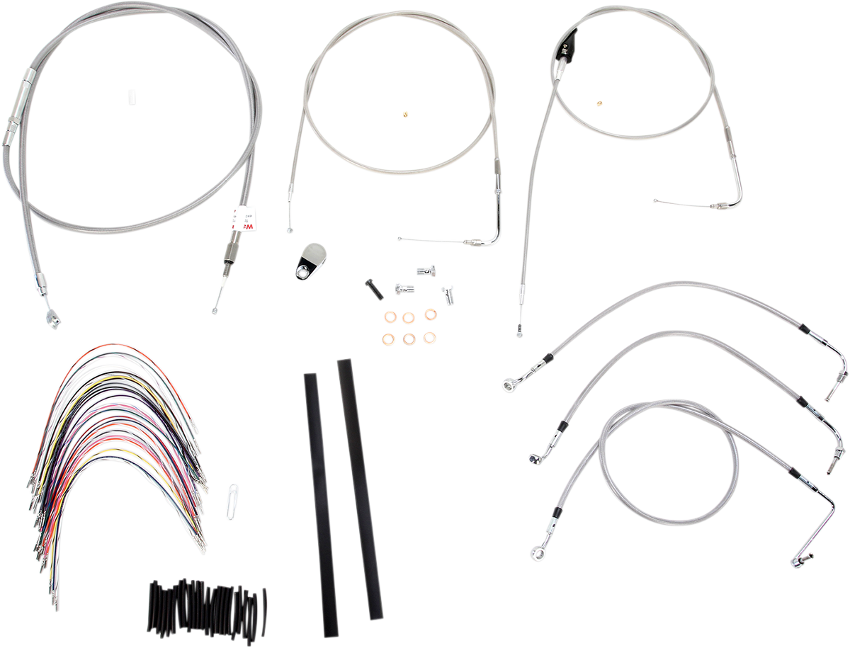 Burly Braided Stainless Steel Cable/Brake Line Kit 18