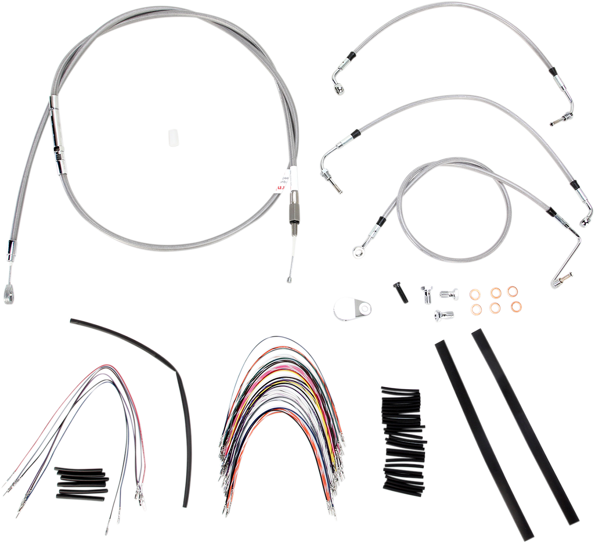 Burly Braided Stainless Steel Cable/Brake Line Kit 16