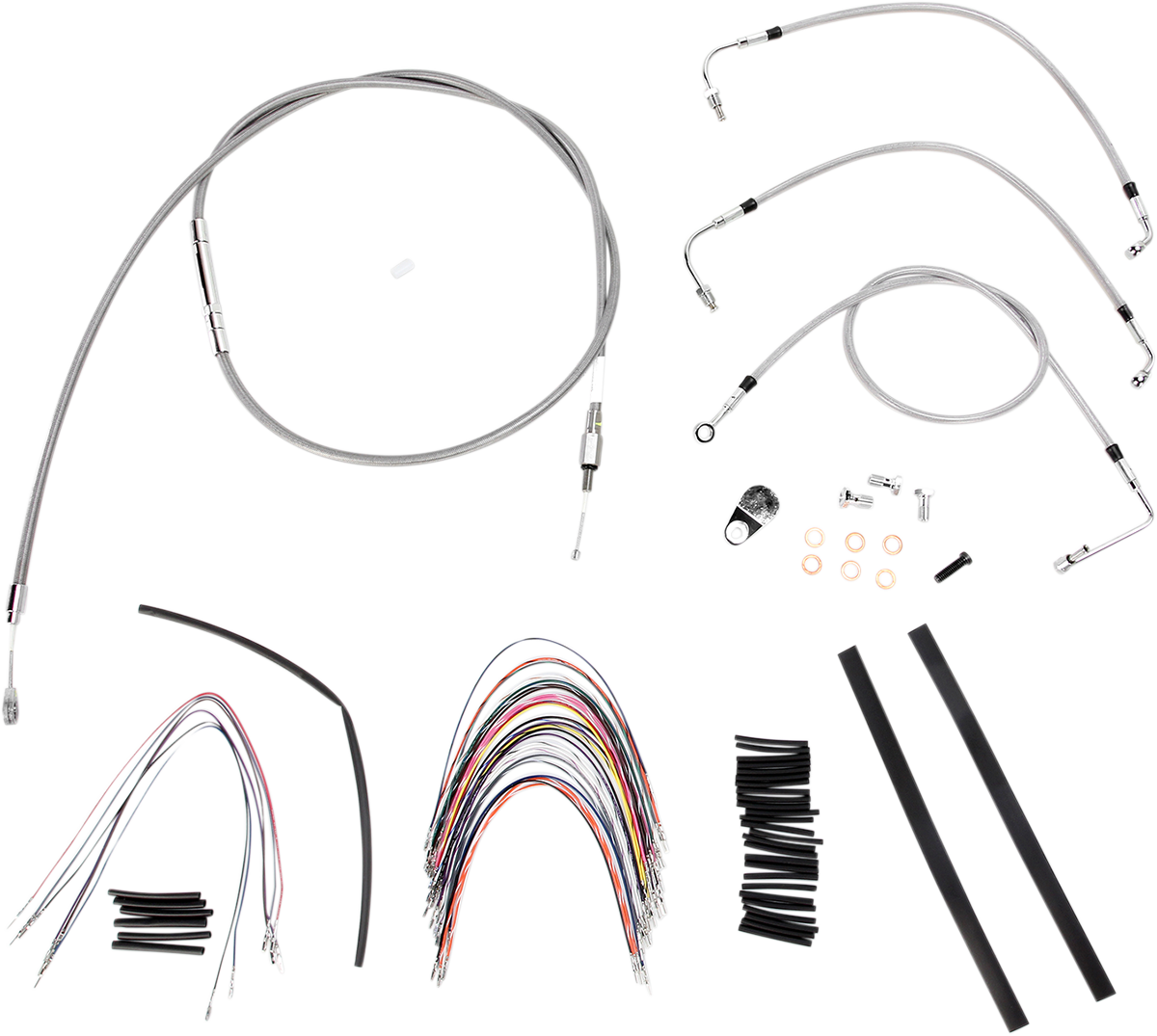 Burly B30-1093 Braided Stainless Steel Cable/Brake Line