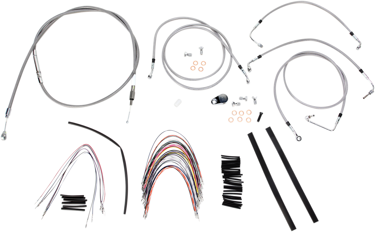 Burly Braided Stainless Steel Cable/Brake Line Kit B30