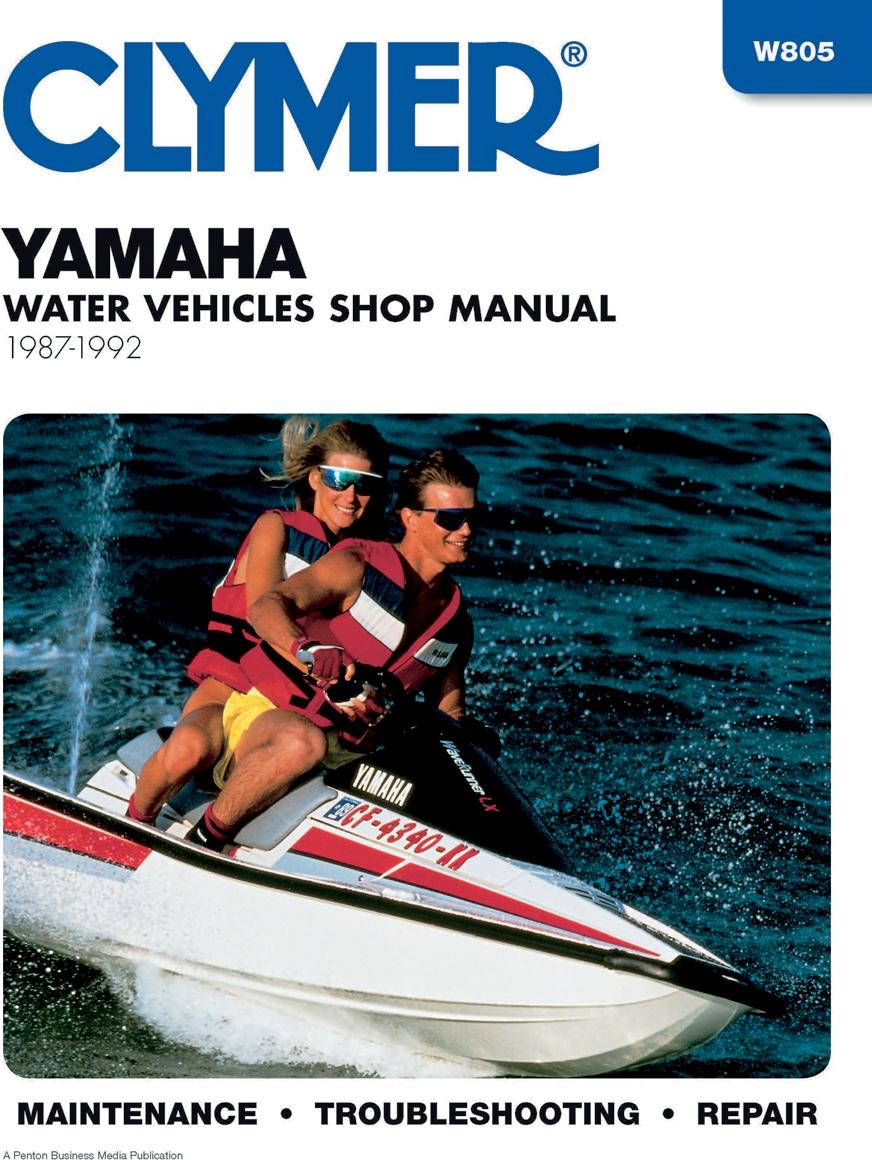 Clymer W805 Yamaha Water Vehicle Manual
