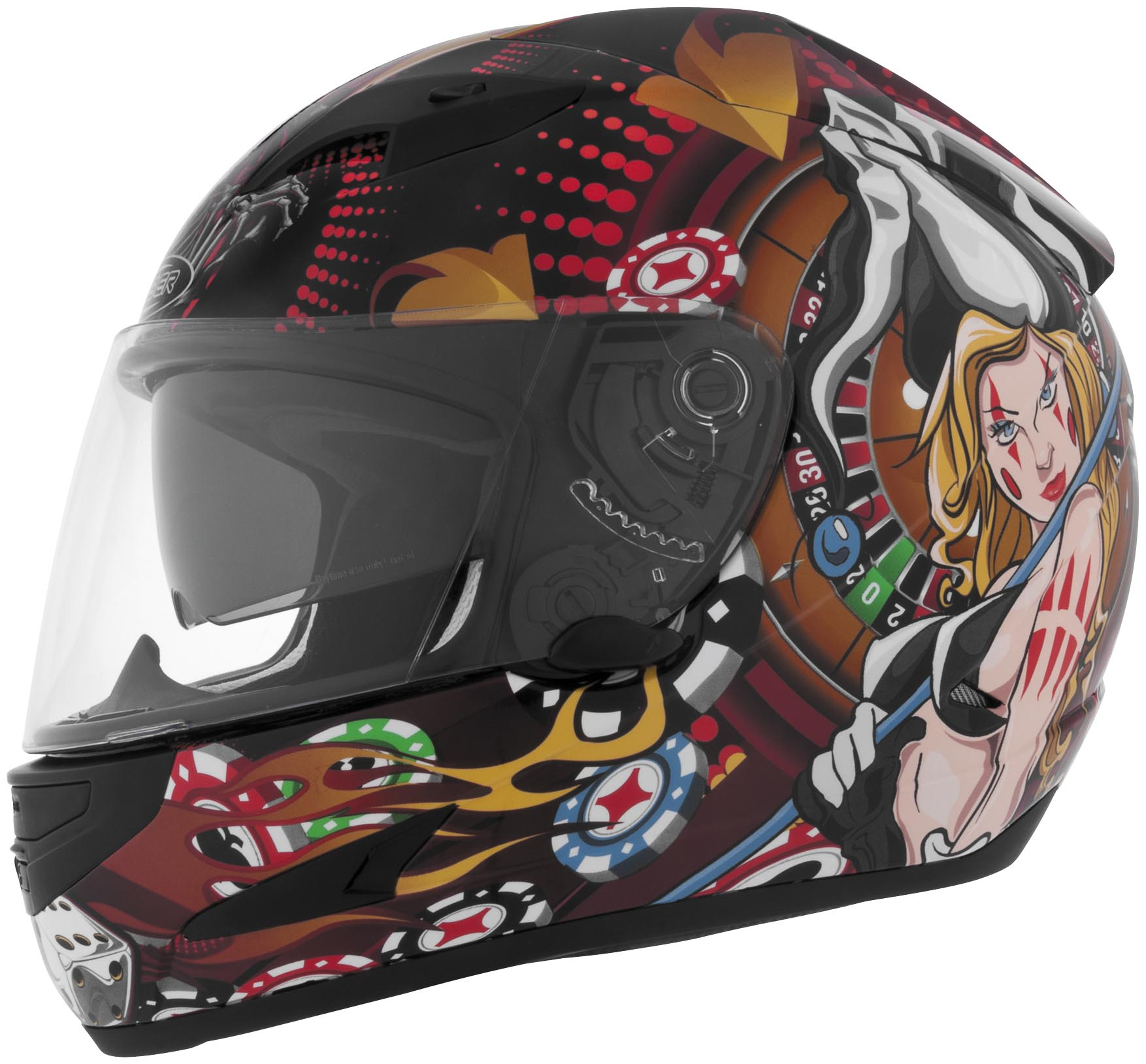 US-97 Poker Girl Graphics Helmet
