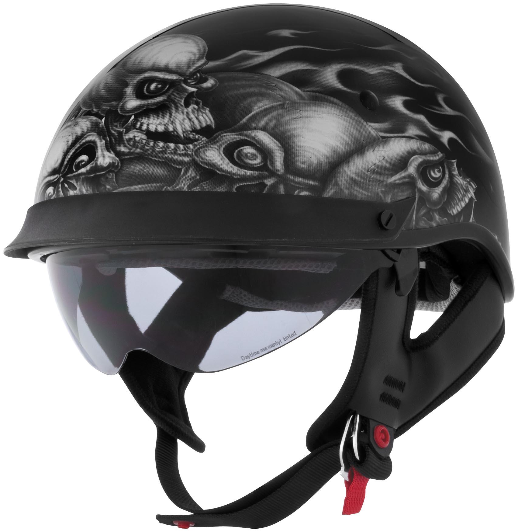 U-72 Skull Pile Graphics Helmet