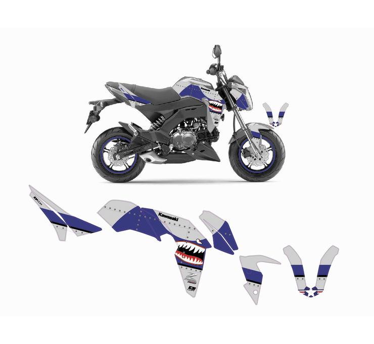 Dcor Kawasaki Z 125 Pro Graphics Blue 20 20 303 Ebay