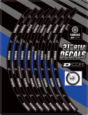 """D/'COR Motorcycle Rim Decals 19/"""" Suzuki Logo Rear 40-80-205"""
