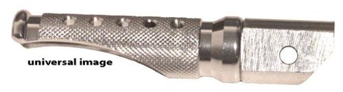Emgo 50-11211A Silver Anodized Aluminum Front Slash Cut Foot Pegs
