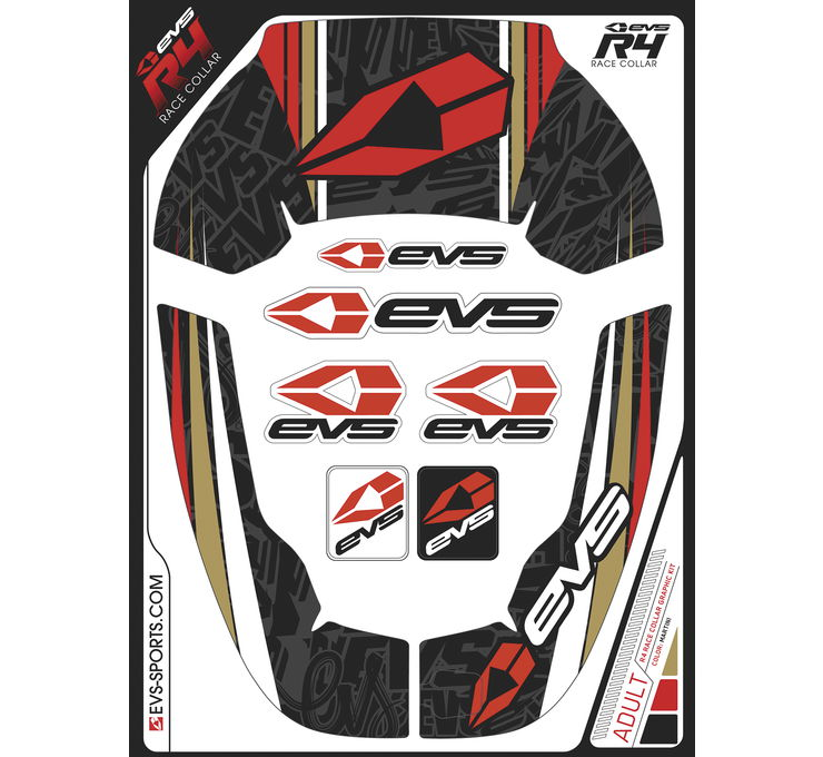 R4 Race Youth Collar Martini Graphics Kit