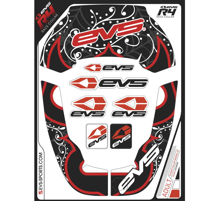 R4 Race Youth Collar Luchador Graphics Kit