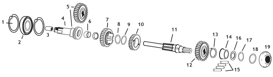 Mainshaft Right-Side Thrust Washers(9)