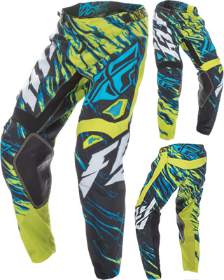FLY RACING MX Motocross MTB BMX 2017 Kinetic RELAPSE Pants Lime//Blue US 34