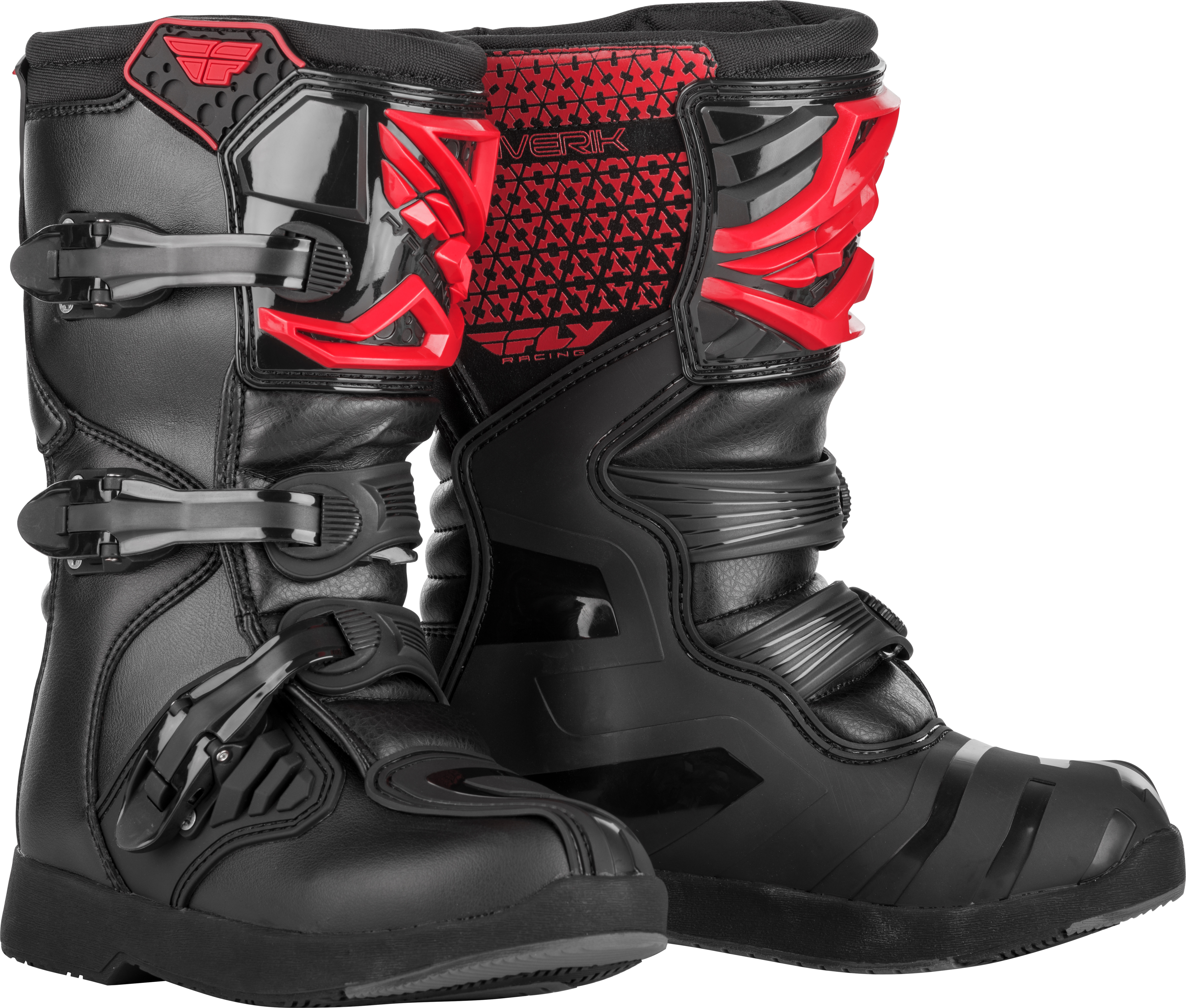 Fly Racing 2019 NEW Maverik Riding Boots Red and Black