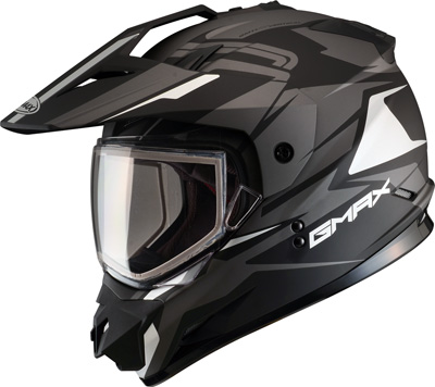 Gmax-GM11-Vertical-Dual-Sport-Snowmobile-Adventure-Snow-Helmet-Flat-Black-Silver
