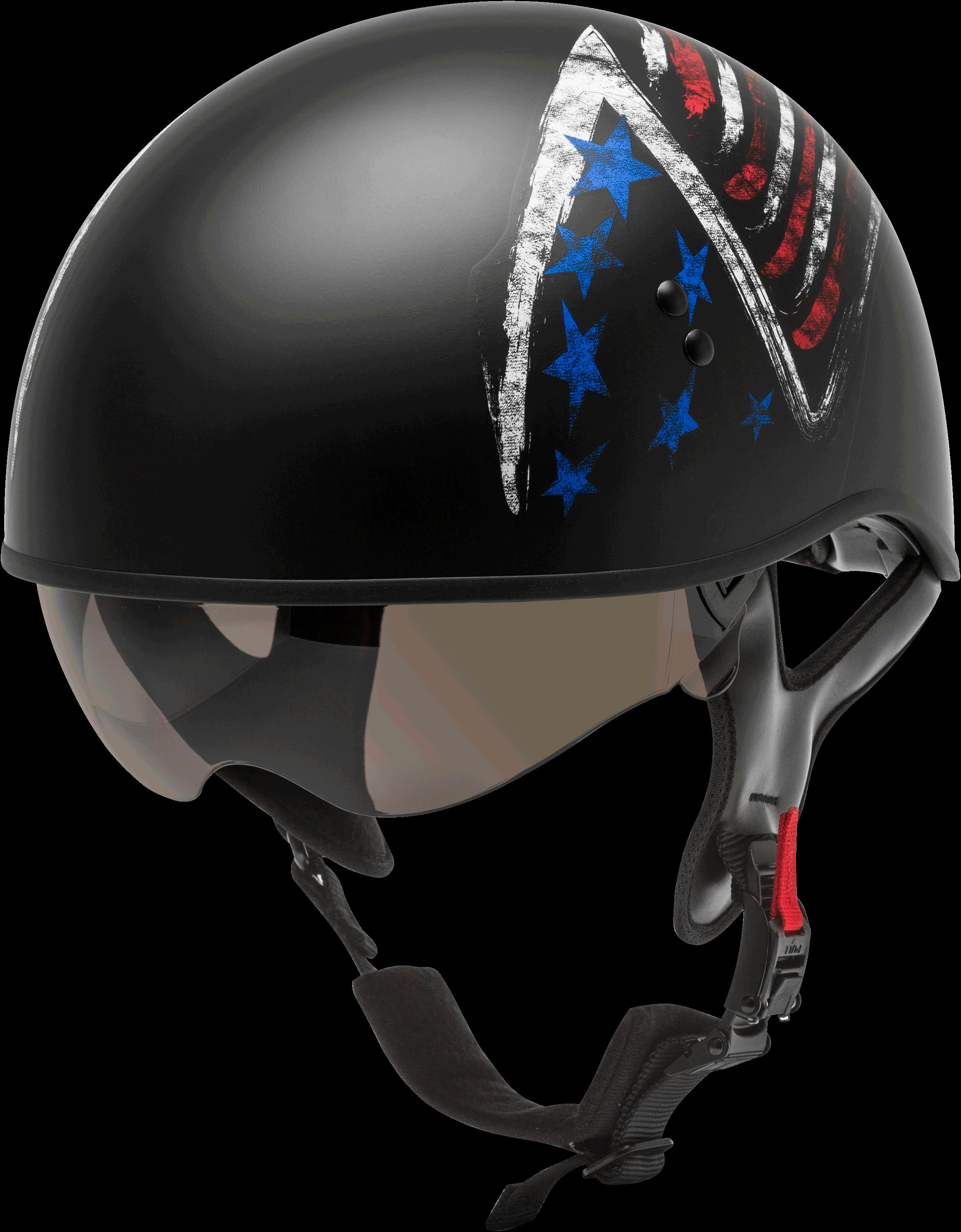 GMAX HH-65 Naked Bravery Helmet Black/red/white/blue