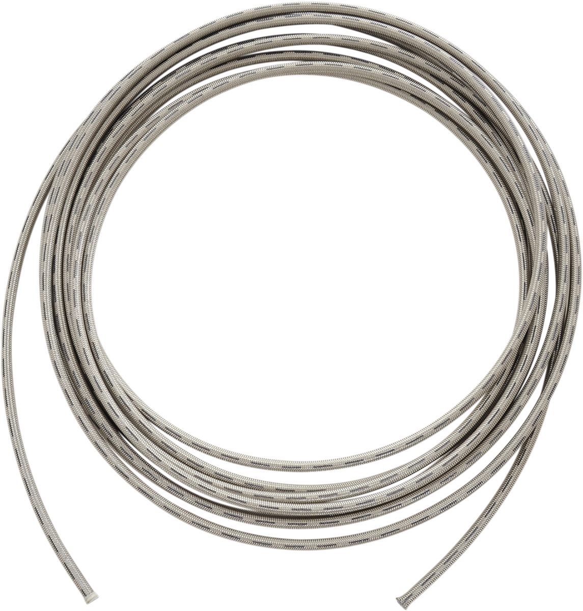 3 Clear-Coated Stainless Steel Braided Hose