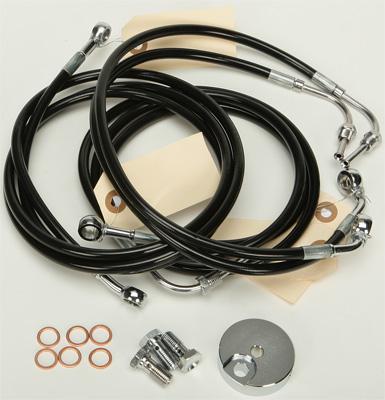 Pro Braking PBF0200-BLU-SIL Front Braided Brake Line Blue Hose /& Stainless Banjos