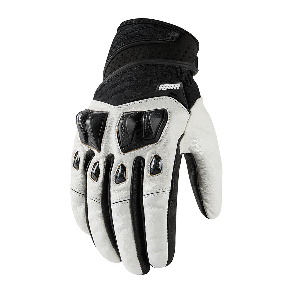 ICON Motosports KONFLICT Suede//Neoprene Motorcycle Gloves Choose Size Stealth