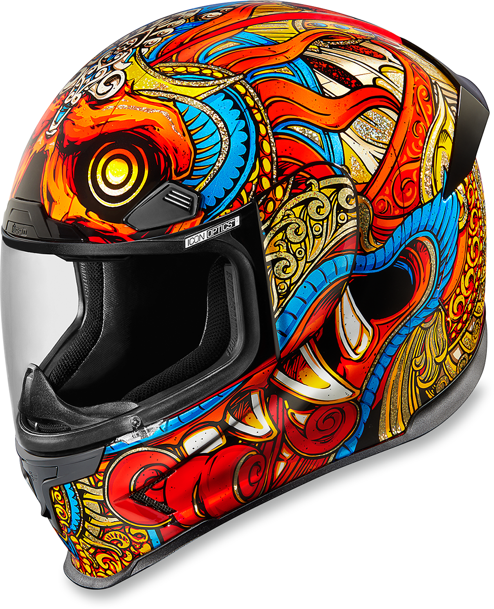 Icon-Airframe-Pro-Barong-Street-Motorcycle-Riding-Helmet-Red-All-Sizes