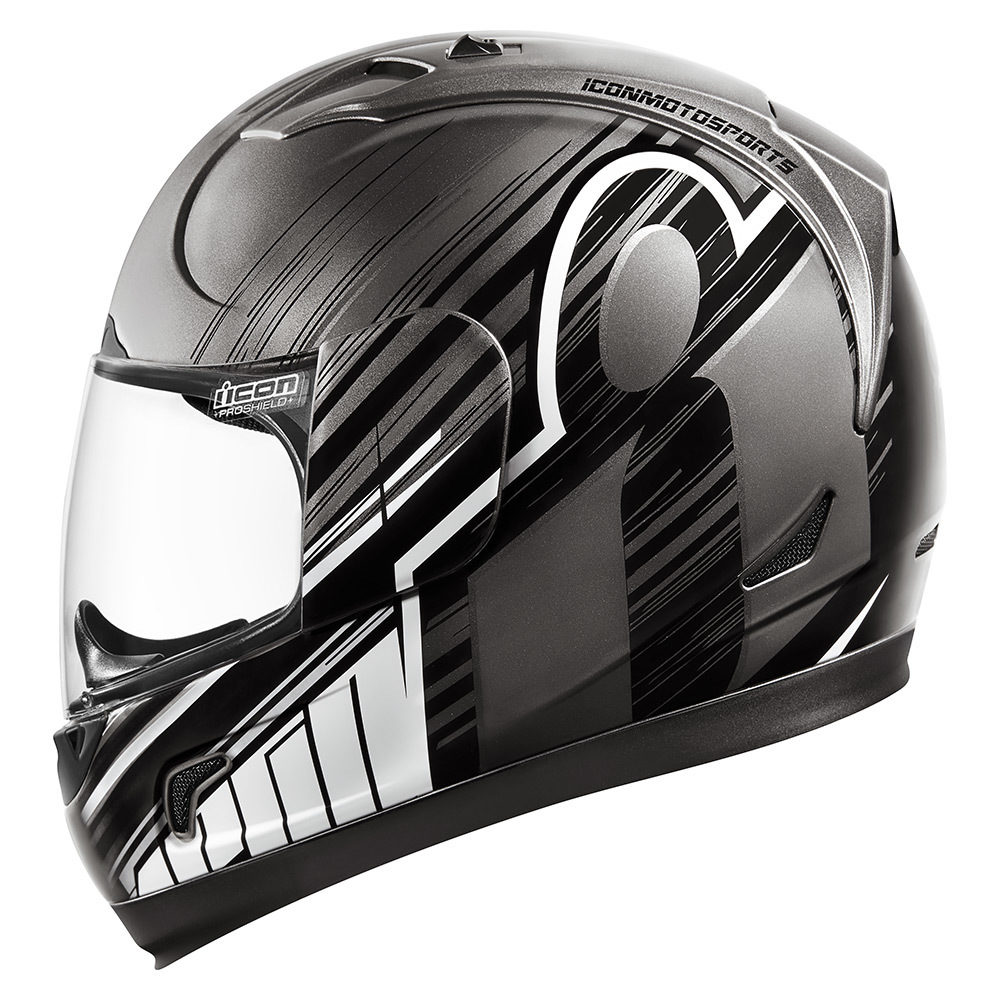 Red ICON MotoSports Alliance OVERLORD Full-Face Motorcycle Helmet Choose Size