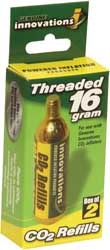 16g Threaded Style Cartridges - 2 Pk
