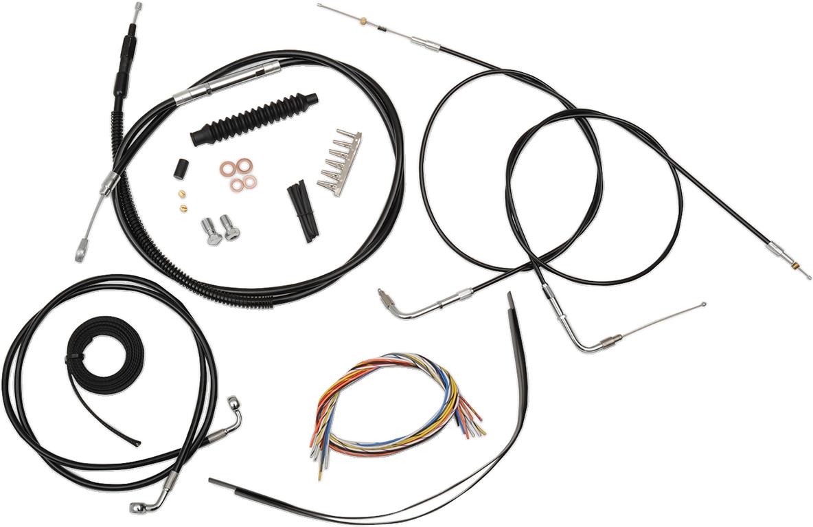 LA Choppers Complete Handlebar Cable And Brake Line Kits