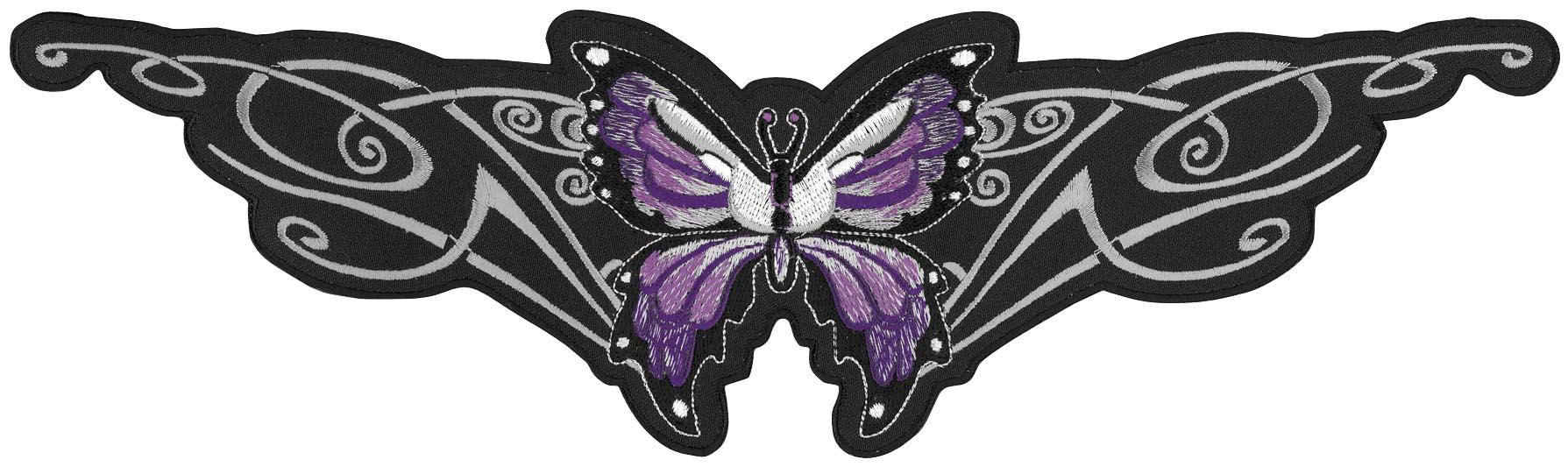 Purple Tribal Butterfly Embroidered Patch