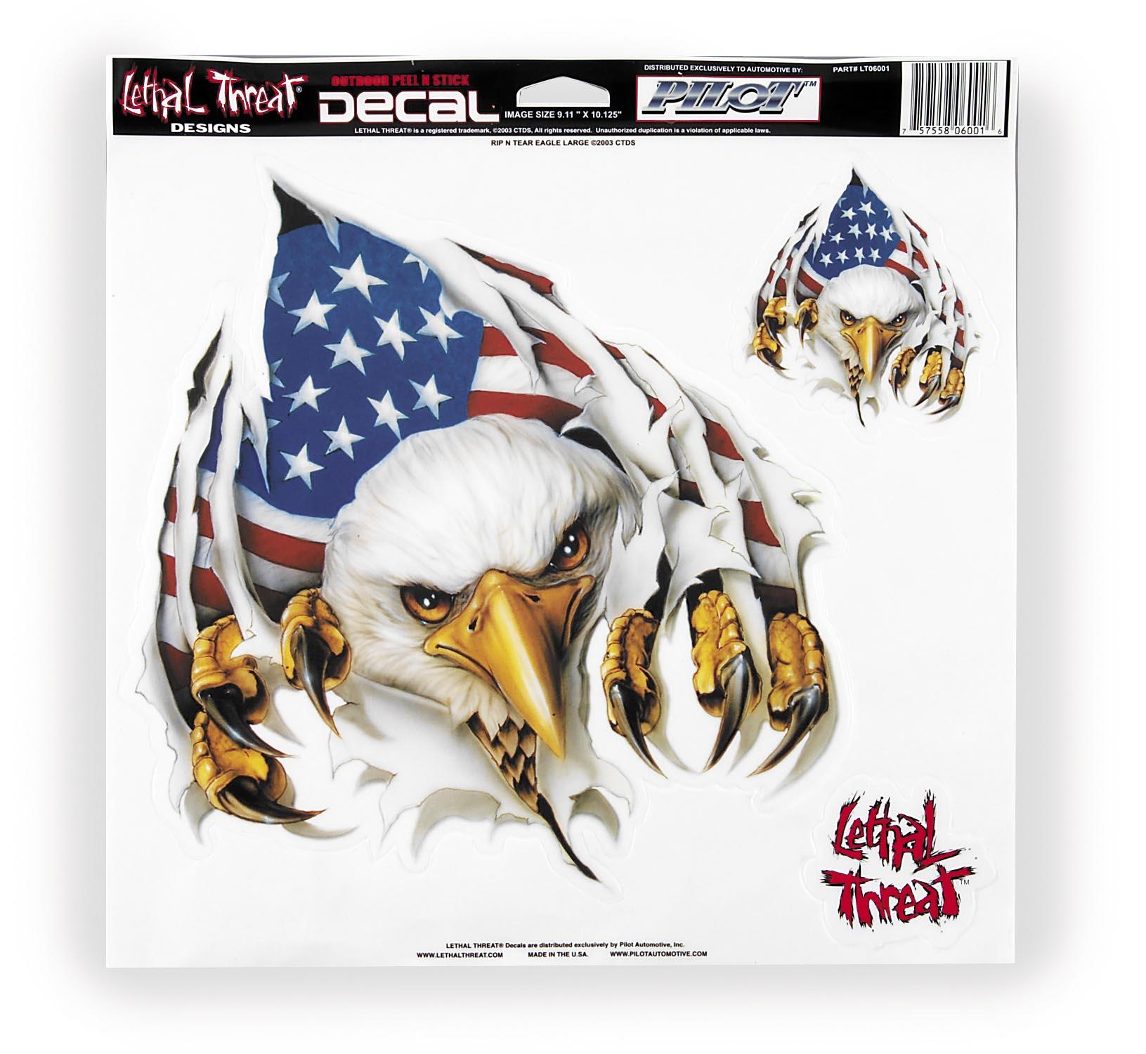 Rip N Tear Eagle Decal