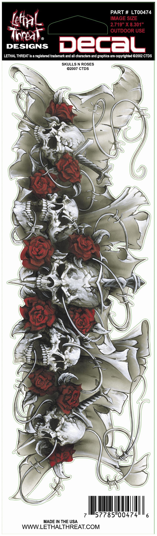 Skulls N Roses Decal