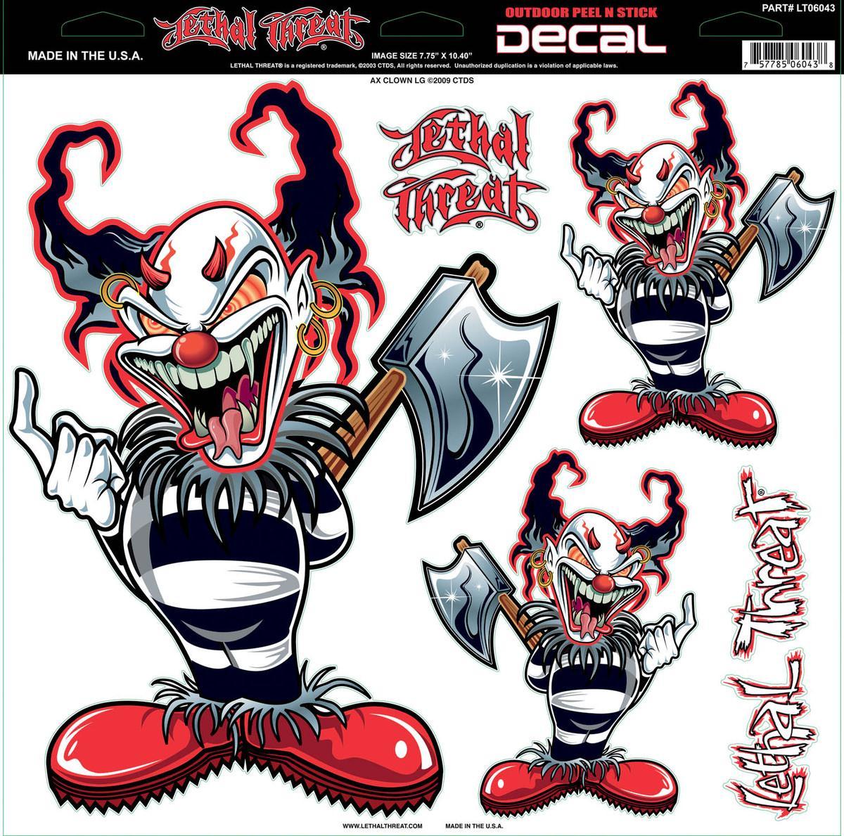 Ax Clown Decal