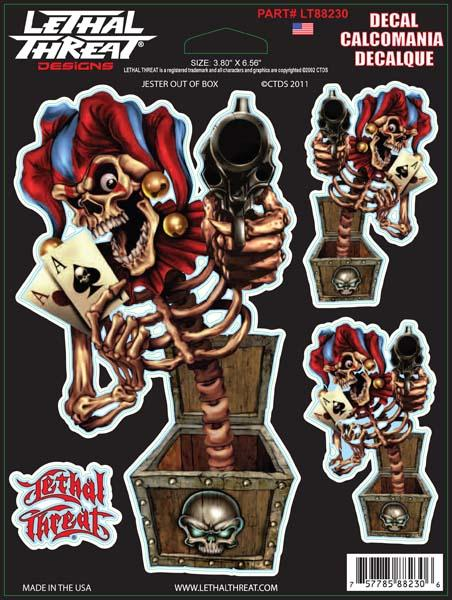 Jester Out Of Box Decal Set