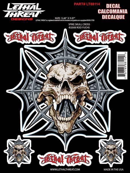 Spike Skull Cross Decal