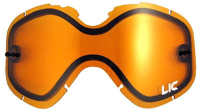 Dual Lens with Tear-Off Pins for Summit and Impact Goggles
