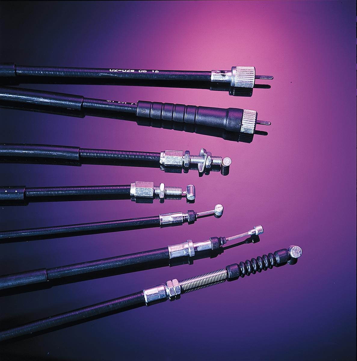 Black Vinyl Push Throttle Cable~1986 Kawasaki EN450A 454 LTD Motion Pro 03-0220