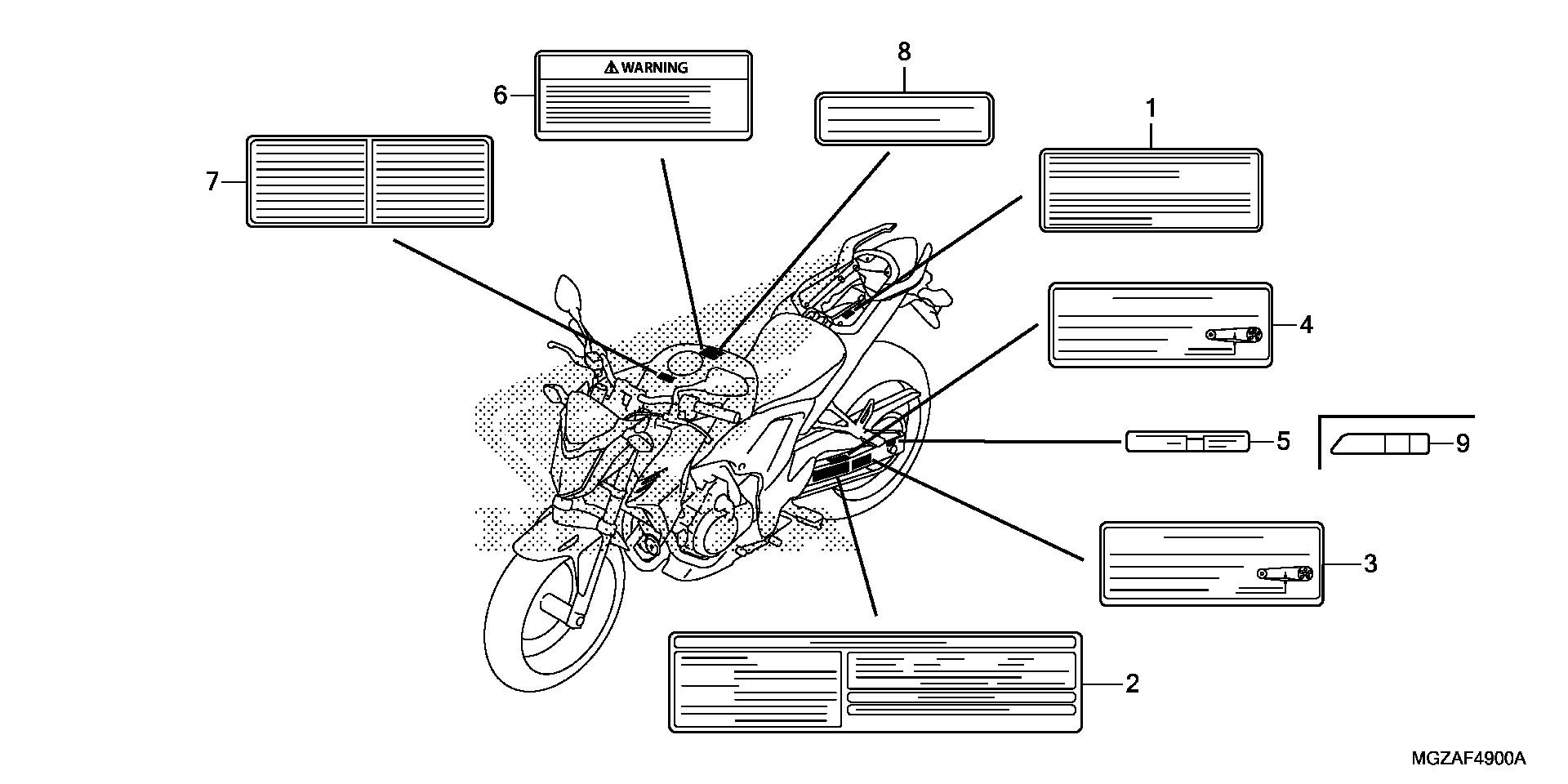 Honda Oem Part 87508
